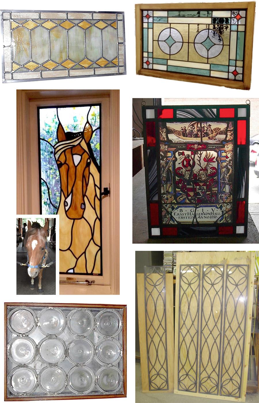 example of custom wood door with glass surround